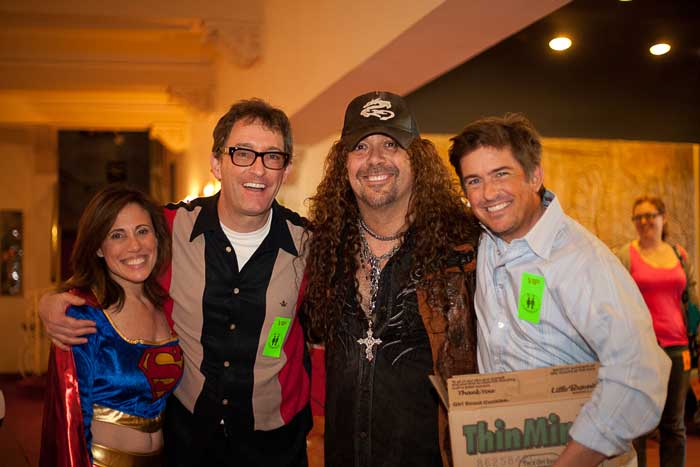 Great Supporters of Art: Michelle Tennen with THREE GENIUS VOICE OVER ACTORS! Tom Kenny (Sponge Bob, etc), Jess Harnell (Wakko, etc) and Charlie Schlatter (Kick Buttowski, etc)